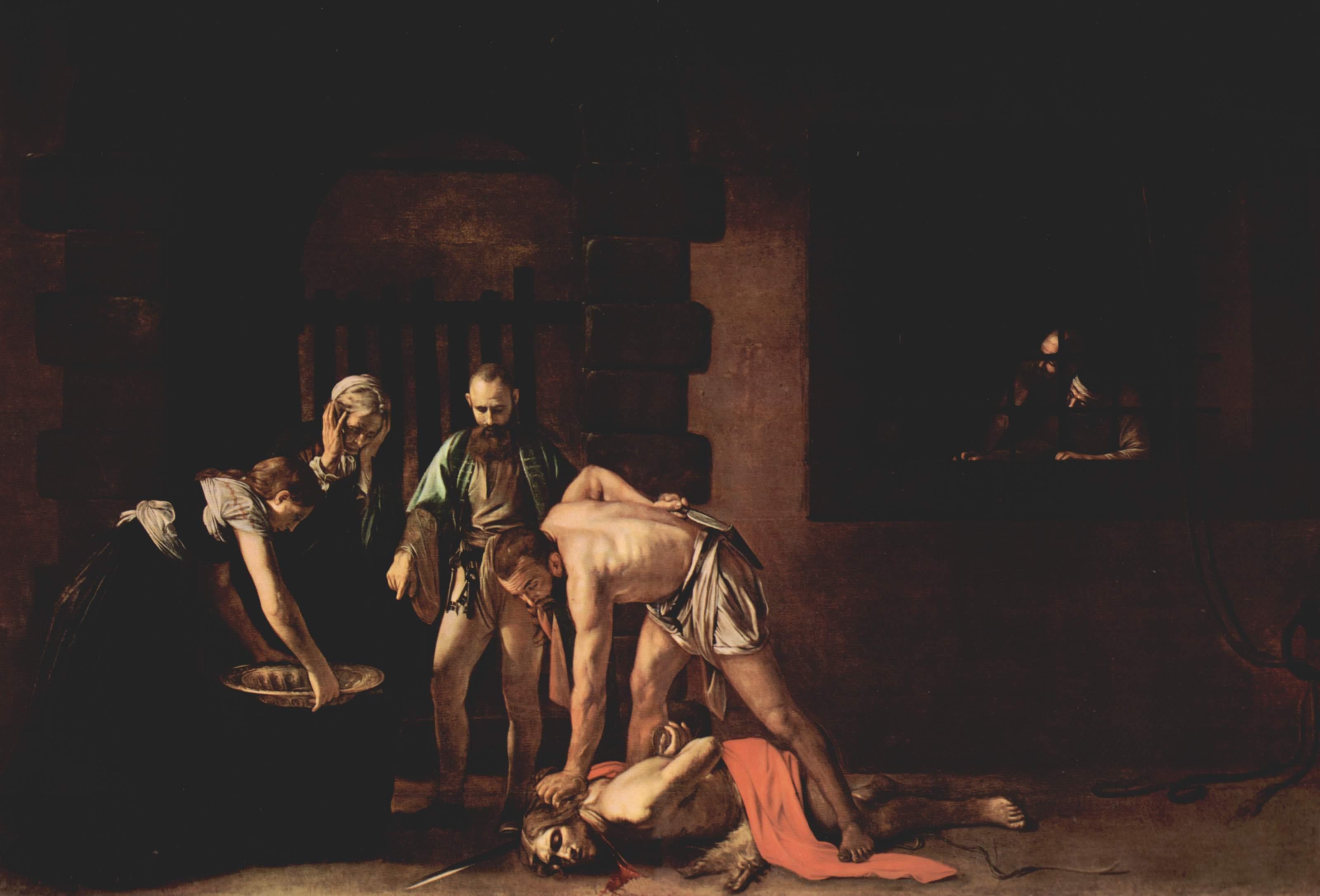 Усекновение главы Иоанна Крестителя. Караваджо. 1608. Усекновение главы Иоанна Предтечи