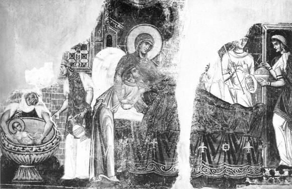 Фреска церкви св.Пантелеимона в Нерези. 1164 г. Македония