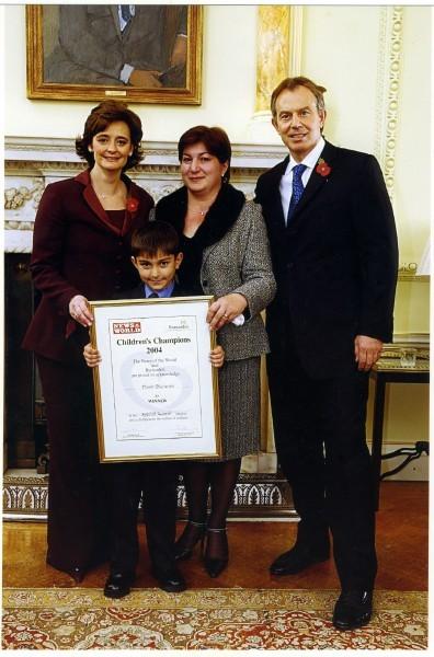 Тамара и Дамир Биченовы с Тони и Шери Блэр