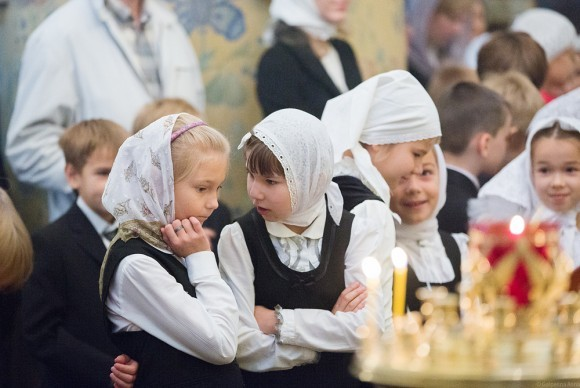 В храме на богослужении присутствуют все гимназисты