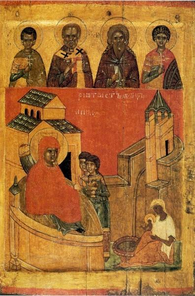 Новгородская икона. Конец XIV - нач.XV в. ГТГ, Москва