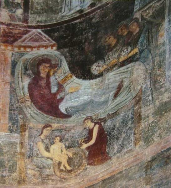 Фреска придела св.Иоакима и Анны в Киевском соборе Св. Софии. XI в. Киев