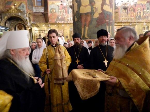 12 января 2013 года в Успенском соборе Московского Кремля Божественная литургия древнерусским чином
