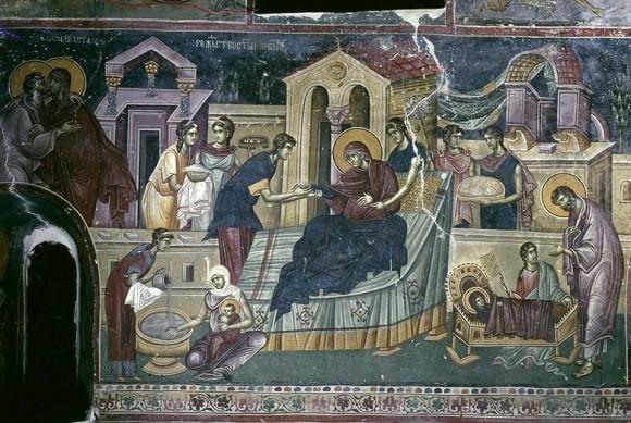 Фреска церкви св.Иоакима и Анны в монастыре Студеница. 1304 г. Сербия