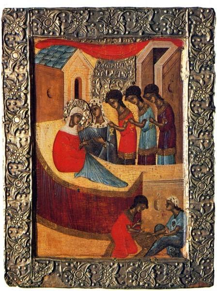 Икона из Покровского монастыря в Суздале. Конец XIV в. Государственный Русский музей, Спб.