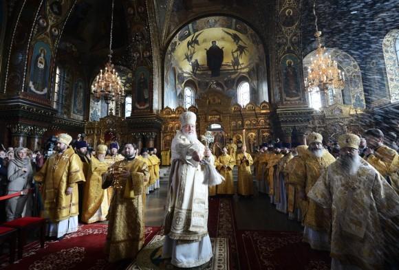 освящение Успенского собора в Санкт-Петербурге
