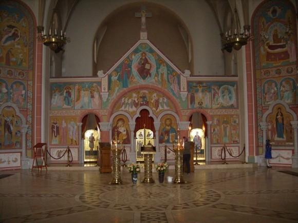 Гамбург. Интерьер церкви св. Иоанна Кронштадтского