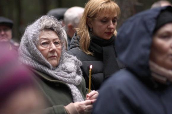 Писатель Тамара Петкевич в день памяти в Левашово