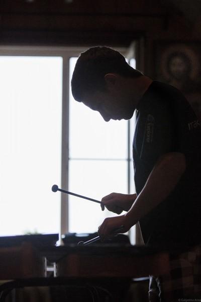 Третий сын – Илья – занимается на ударных инструментах