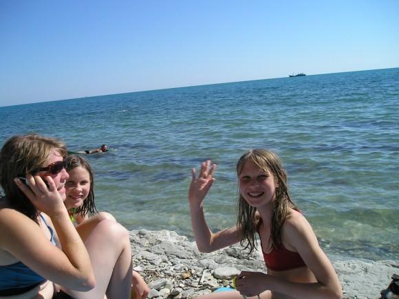 Первая поездка на море. Лето 2005 г.