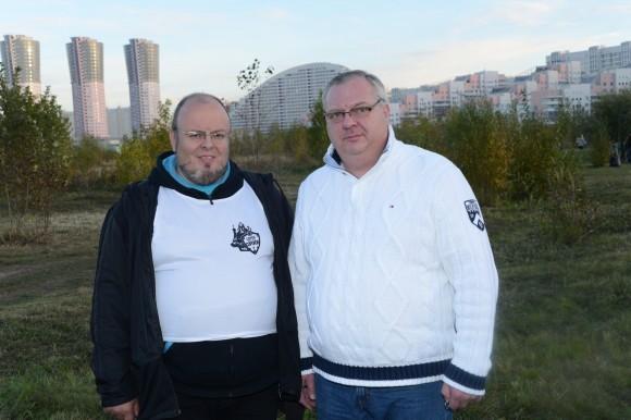Лидер движения «Сорок сороков» Андрей Кормухин и Валерий Чкалов