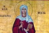 Церковь чтит память святой равноапостольной Феклы