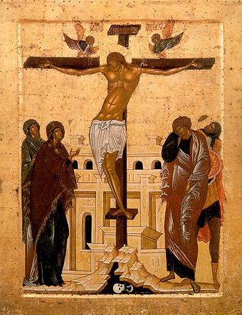 Распятие. Икона XV в. Кирилло-Белозерский монастырь