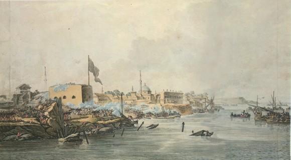 Штурм Измаила 11 декабря 1790 года. М.Иванов создавал картину прямо во время сражения