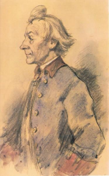 Один из лучших портретов Суворова написал замечательный художник Константин Иванович Рудаков
