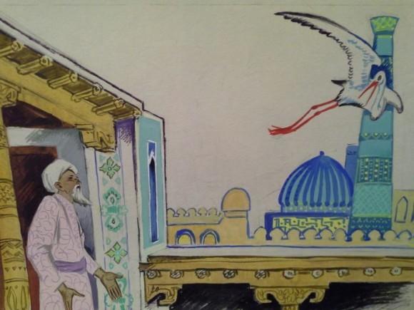 Афанасьева Н.А. Иллюстрация к сказке «Халиф-аист»