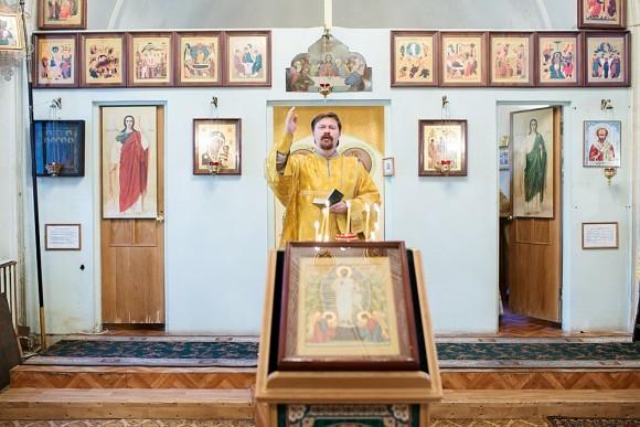На Божественной литургии