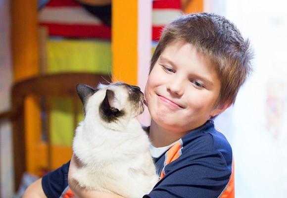 Даниил, 8 лет, и кошка Джесси