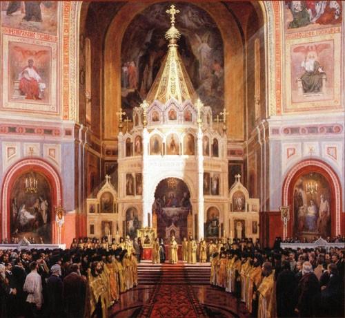 Александр Саплин. Избрание Патриарха Тихона