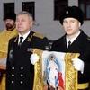 Для подводной лодки «Владимир Мономах» освятили походный храм