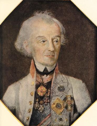 Художник Иоганн Генрих Шмидт запечатлел Суворова в Праге, когда генералиссимус возвращался из последнего похода... По мотивам этого портрета создано несколько популярных гравюр