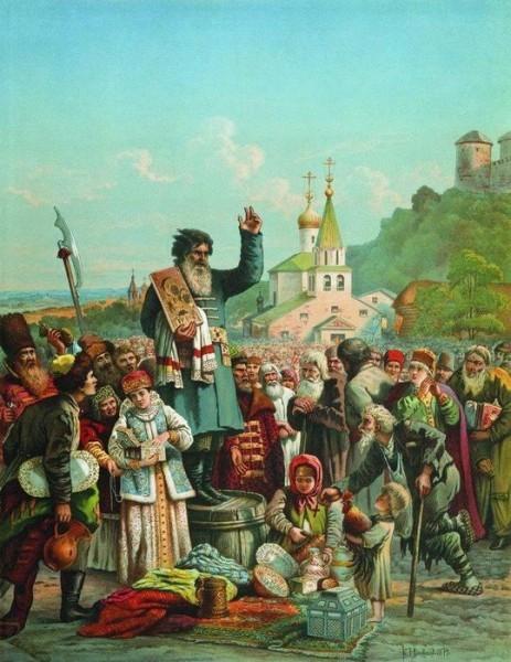 К.Е.Маковский. Воззвание Кузьмы Минина к нижегородцам в 1611 году