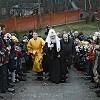 Патриарх Кирилл освятил храм Сошествия Святого Духа в поселении Первомайское
