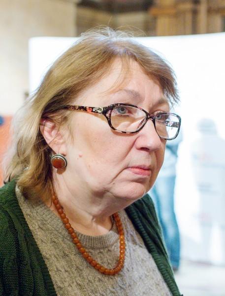 Ирина Чугреева, руководитель реставрации живописи Покровского Собора МНРХУ