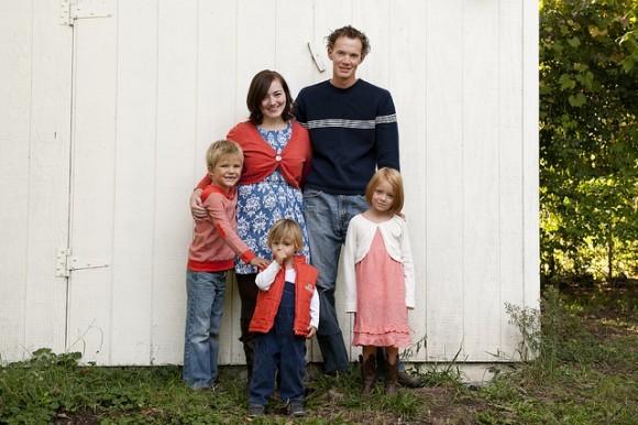 Семья Паркеров с детьми