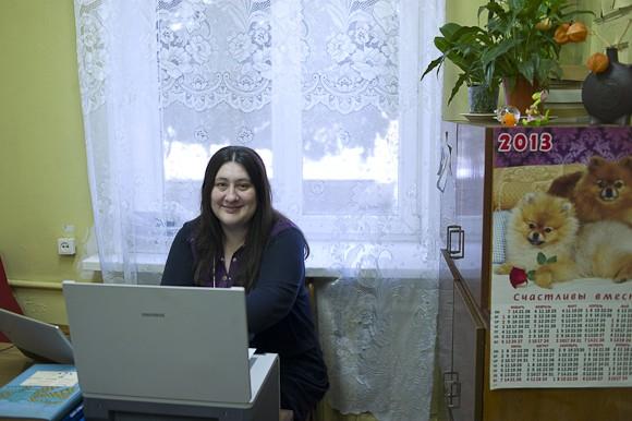 Ольга Стец – официально библиотекарь по информационным технологиям. Сотрудники называют ее компьютерным гением библиотеки.