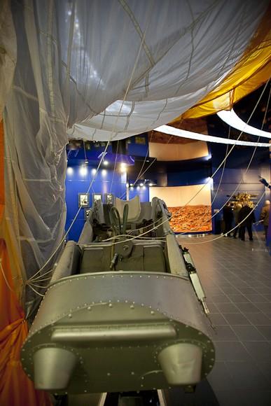 Капсула, с которой космонавт катапультировался на парашюте возвращаясь из космоса.