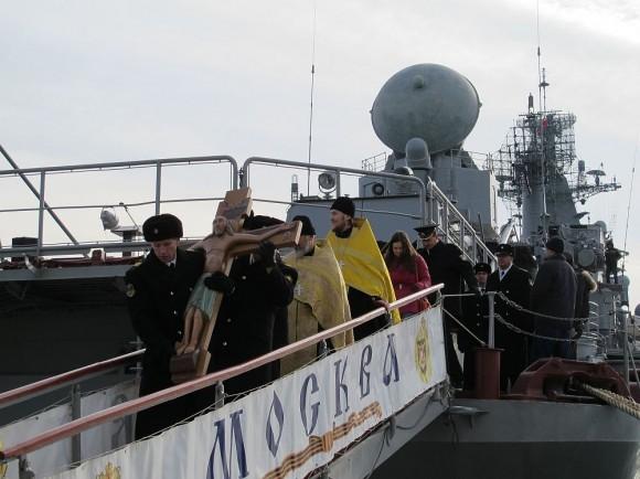 На крейсере «Москва»