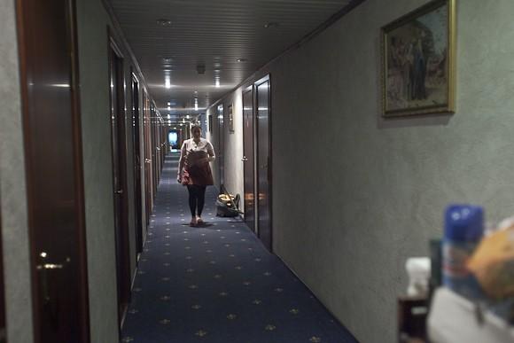 В коридорах гостиницы «Даниловская»