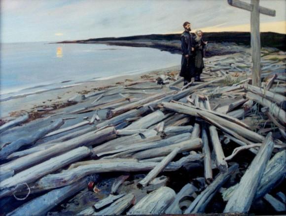 Татьяна Юшманова, «Белое море. Анзер. У поклонного креста»