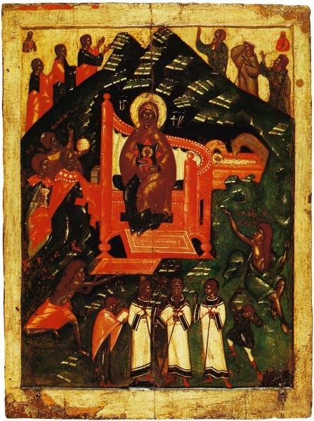 Икона из псковской Варваринской церкви. Конец XIV- нач.XV в. Псков. ГТГ, Москва