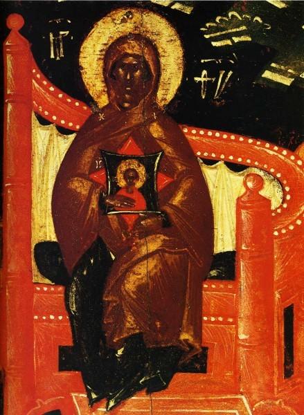 Икона из псковской Варваринской церкви. Конец XIV- нач.XV в. Псков. ГТГ. Фрагмент
