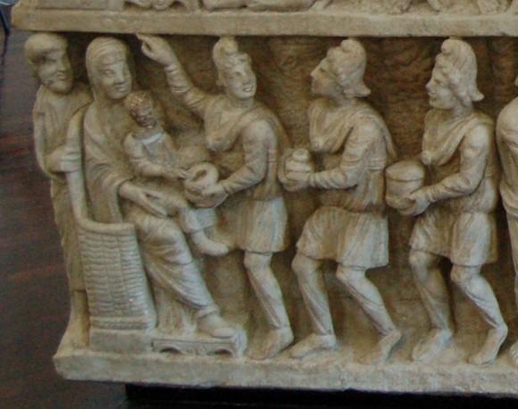 Волхвы: какими мы их представляем Саркофаг «Двух Заветов» или «догматический». 325-350 г. Музеи Ватикана, Рим. Фрагмент