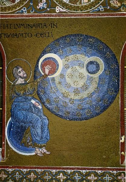 Сотворение земли. Мозаика из собора Мадонны Ассунта. Италия. XII в