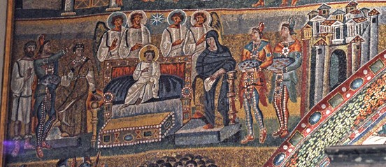 Мозаика арки базилики Санта Мария Маджоре. 432-440 г. Рим. Фрагмент
