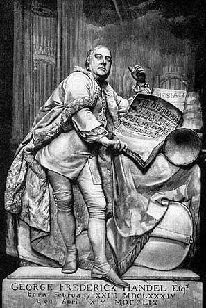 Надгробный памятник Генделя в Вестминстерском аббатстве