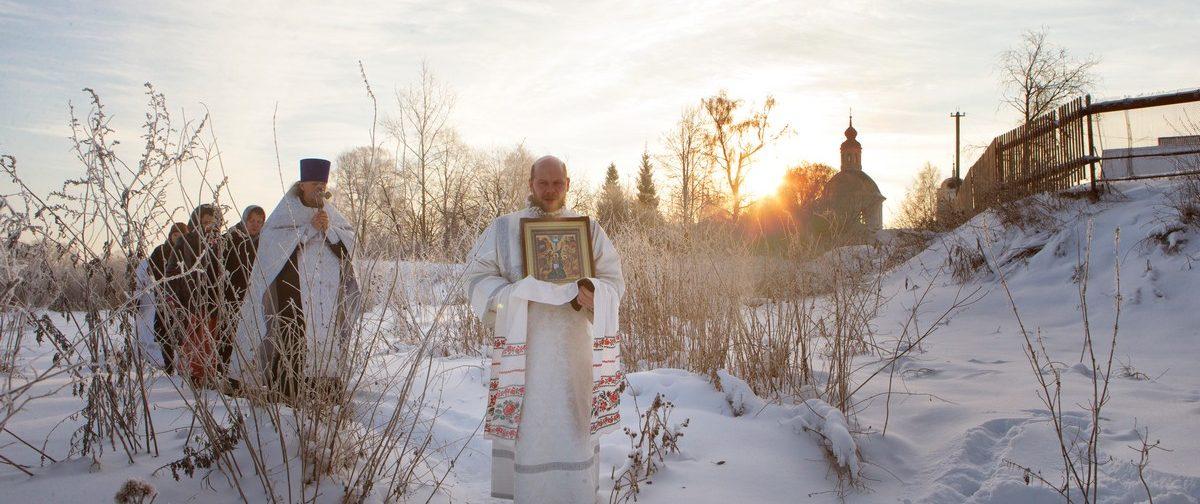 На Крещение Господне в сельском храме