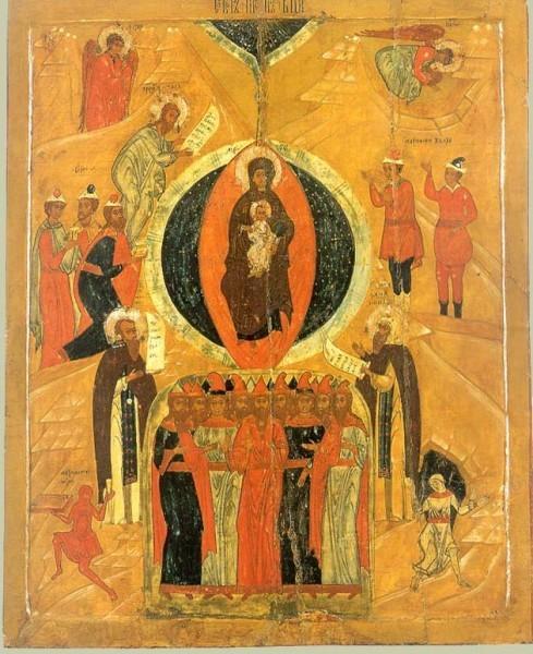 Икона из Успенской церкви села Варзуга. Конец XVII в. Русский Север. Государственный Эрмитаж