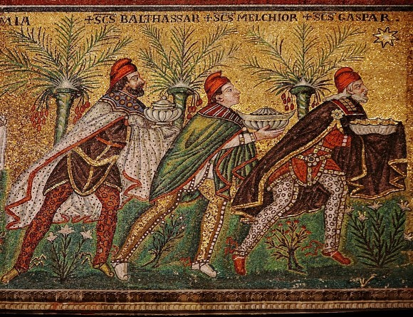 Мозаика церкви Сан-Аполлинаре Нуово в Равенне. VI в. Равенна, Италия