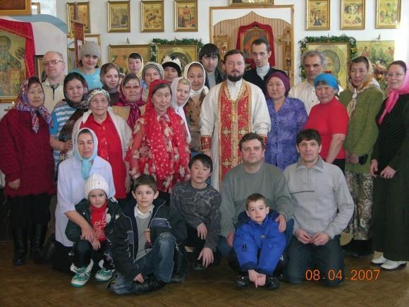 С прихожанами с. Оленёк