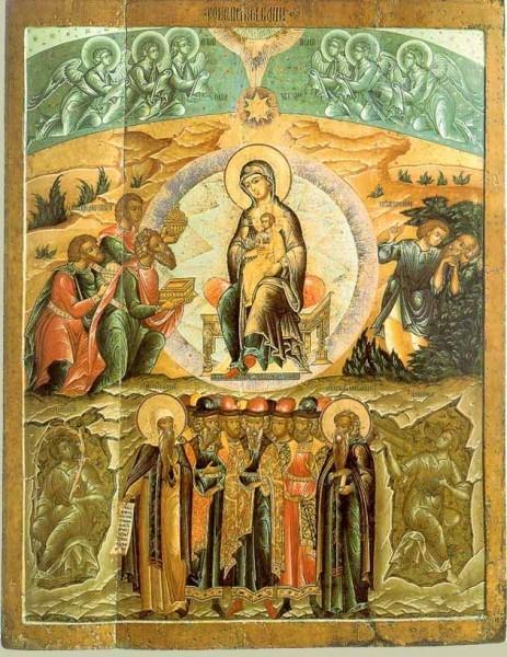 Икона из ярославской церкви Феодоровской Богоматери. 1680-1690 г. Ярославль. Русский Музей, Спб.