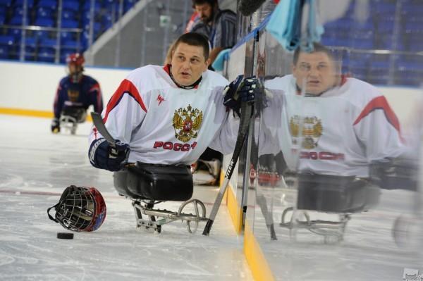 Виктор Клюшкин. Игрок в следж-хоккей