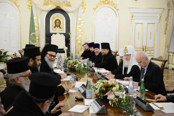 Московский и Сирийский патриархи обсудили вопросы защиты христиан на Ближнем Востоке
