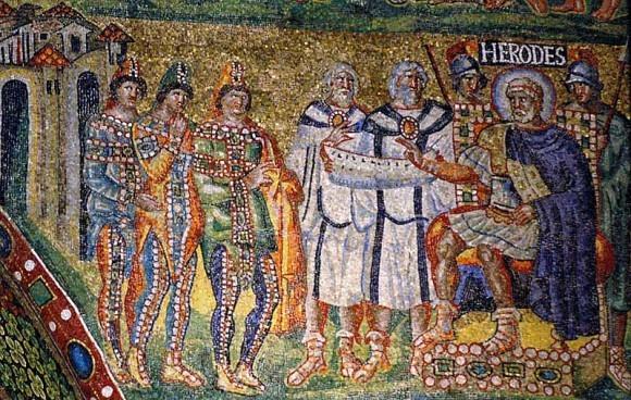 Мозаика арка базилики Санта Мария Маджоре. 432-440 г. Рим. Фрагмент