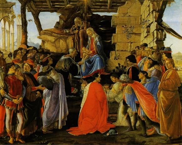 Сандро Ботичелли. Поклонение волхвов. Ок.1475 г. Галерея Уффици, Флоренция, Италия