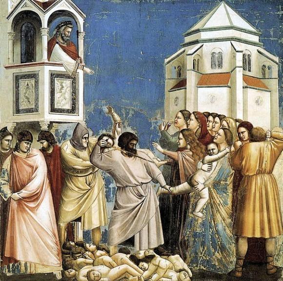 «Избиение младенцев» (фреска Джотто в капелле Скровеньи)